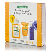 Klorane Σετ Ταξιδιού MANGO - Shampoo 100ml & Baume 50ml & Eau Demaquillant 25ml, 1τμχ