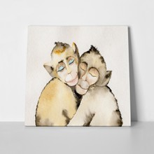 Monkey in love watercolor 347632265 a
