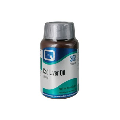 Quest Vitamins - Cod Liver Oil 1000mg with vitamins A & D - 30caps