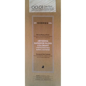KORRES Βαφή abyssinia superior gloss colorant 00.01 super blonde έντονο σαντρέ (υπερξανθιστικό)