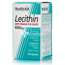 Health Aid Lecithin 1000mg with Vitamin E & CoQ10, 30 caps