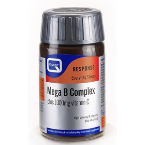 Quest mega b complex plus 1000mg c tabs 60s enlarge