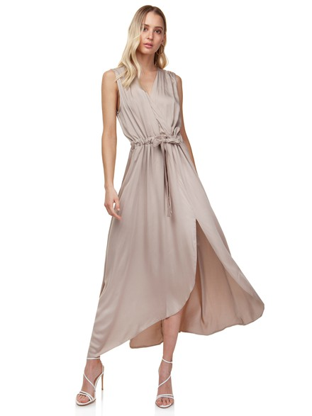 Asymmetrical maxi dress