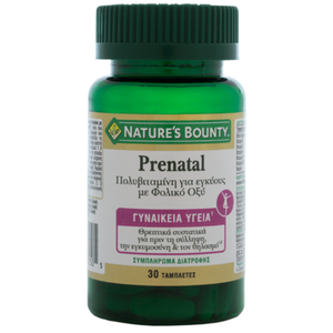 Natures boundy prenatal folic acid with 30caps
