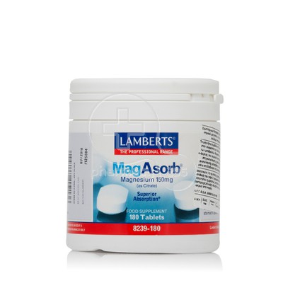 LAMBERTS - MagAsorb Magnesium (as Citrate) 150mg - 180tabs