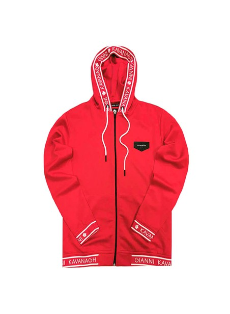 Gianni Kavanagh Red Tracksuit Jacket With GK Red Elastic