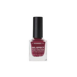 Korres Gel Effect Nail Colour Βερνίκι Νυχιών 74 Berry Addict 11ml