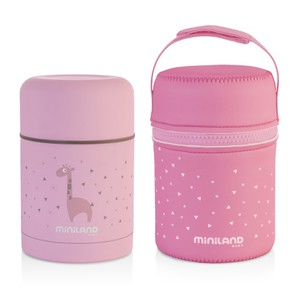 Miniland Silky Food Thermos Ρόζ 600ml