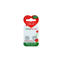 Biojoux BJT 922 Trendy White Crystal Open Heart 11mm 2 τεμάχια