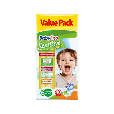 BABYLINO - VALUE PACK Babylino Sensitive Extra Large No6 (15-30 Kg) - 40 πάνες