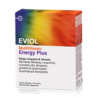 EVIOL MULTIVITAMIN ENERGY PLUS EXTRA ENERGY & VITALITY 30SOFTCAPS