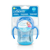 DR BROWN'S - Soft Spout Transition Cup Κύπελλο με Μαλακό Στόμιο & Καπάκι 6m+ - 180ml TC61001