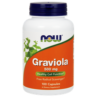 NOW GRAVIOLA 500 MG, 100 CAPS