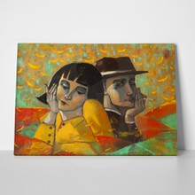 Lovers portrait painting