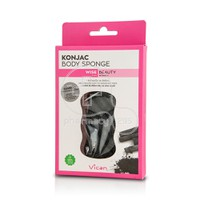 VICAN - WISE BEAUTY Konjac Body Sponge with Bamboo Charcoal Powder - 1τεμ.
