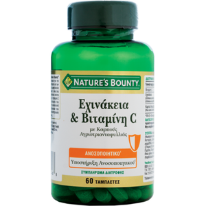 Natures bounty echinacea   vitamin c 60caps