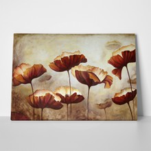 Painting poppies texture brown 335581049 a
