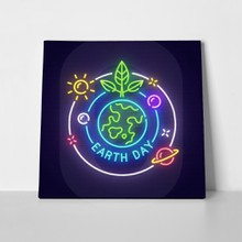 Earth day neon sign 1050568019 a
