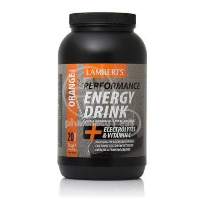 LAMBERTS - PERFORMANCE Energy Drink + Electrolytes & Vitamin C (Orange Flavour) - 1kg