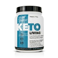 NATURES PLUS - KETOLIVING LCHF Shake (Low Carbohydrate High Fat - Vanilla) - 578gr