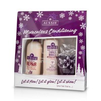 AUSSIE - PROMO PACK REPAIR MIRACLE Shampoo - 300ml & 3 MINUTE MIRACLE Reconstructor - 250ml ΜΕ ΔΩΡΟ ΚΑΛΤΣΕΣ