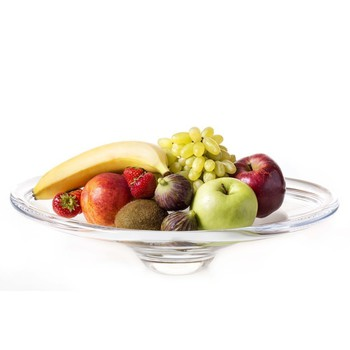 Glass Platter with Selection of Fruits (Large Size)