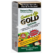 Nature's Plus SOURCE OF LIFE GOLD - Ενέργεια, 90 tabs
