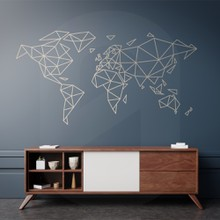 World map lines