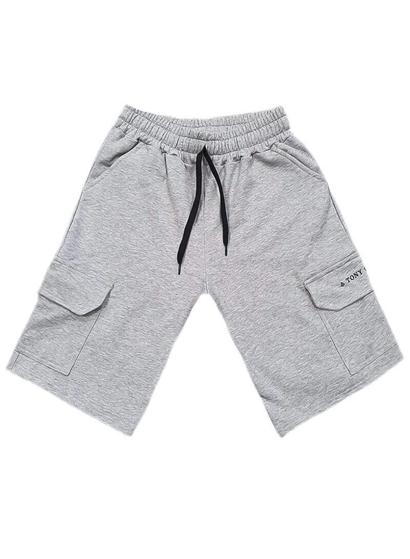 TONY COUPER GREY TS POCKET SHORTS