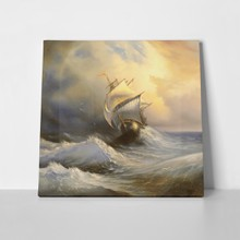 Ancient sailing vessel stormy sea 51017665 a