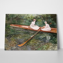 The pink rowing boat monet a