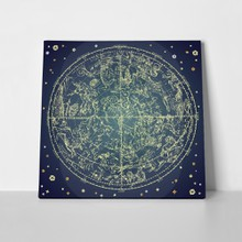 Vintage zodiac constellation map 58187476 a