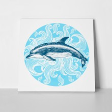 Dolphin ink drawing 436481881 a