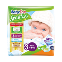 BABYLINO - Babylino Sensitive Midi No3 (4-9 Kg) - 22 πάνες