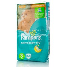 Pampers No.3 (5-9 kg) - Active Baby Dry, 68τμχ