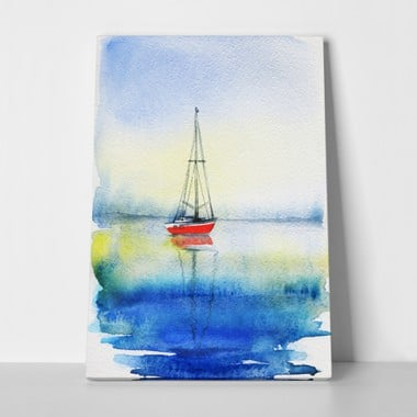 Sea watercolour painting a