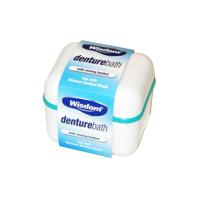 Wisdom - Denture Bath with rinsing basket