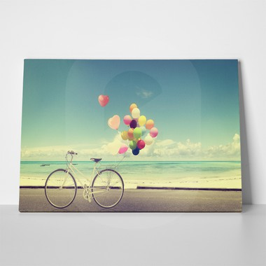 Vintage bicycle with heart balloon 197705528 a