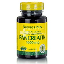 Natures Plus Pancreatin 1000mg - Πέψη, 60tabs