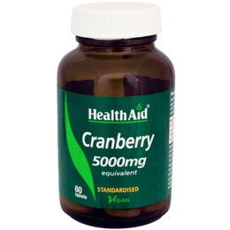 Health Aid CRANBERRY 5000mg, 60 ταμπλέτες