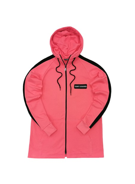 TONY COUPER PINK ZIP THROUGH HOODIE