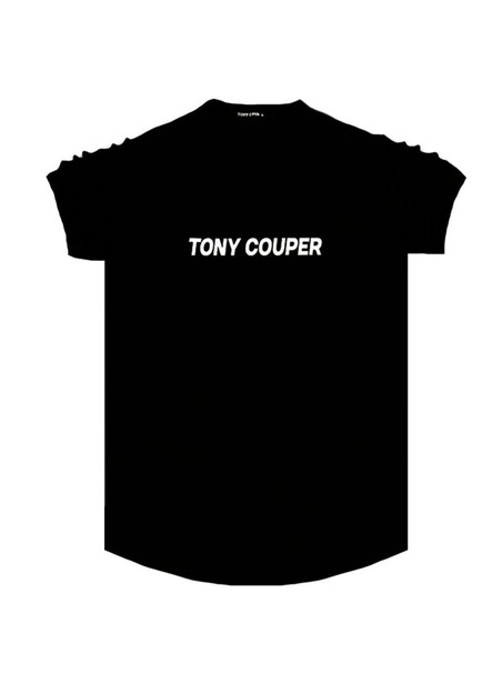 TONY COUPER BLACK LOGO T-SHIRT