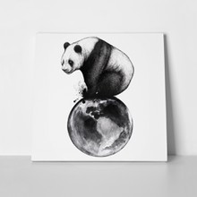Panda on earth watercolor 532437625 a