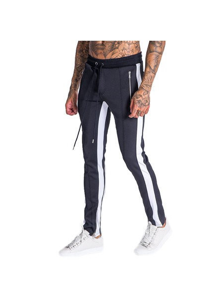 Gianni Kavanagh Black Trousers With White Line