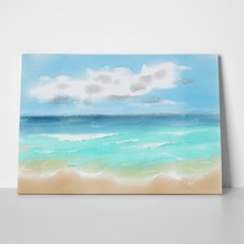 Beach tropical sea watercolors water color 643096135 a