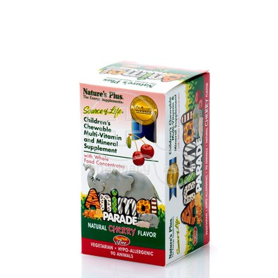 NATURE'S PLUS - SOURCE OF LIFE ANMIMAL PARADE Multi Vitamin & Mineral (Cherry) - 90chew.tabs