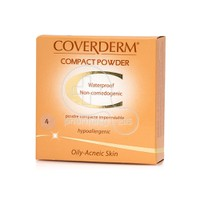 COVERDERM - COMPACT POWDER Oily/Acneic Skin No4 - 10gr