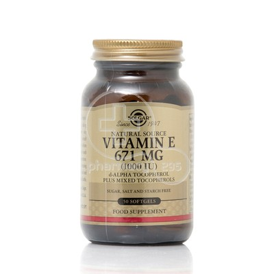 SOLGAR - Vitamin E 671mg (1000IU) - 50softgels