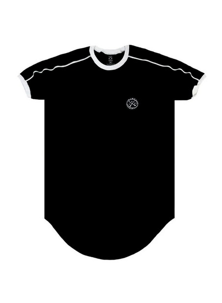 VINYL ART CLOTHING BLACK 2 STRIPE T-SHIRT