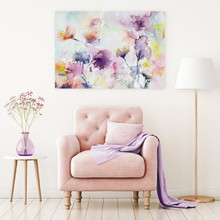Pastel watercolor flowers purple